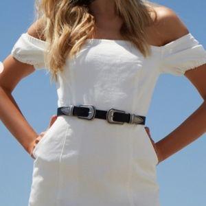 White denim NWOT dress